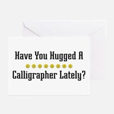 Hugged Calligrapher Greeting Cards (Pk of 10)
