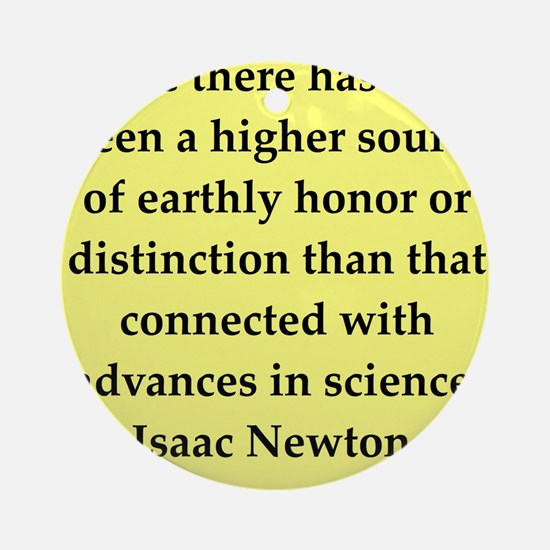 newton4.png Ornament (Round)