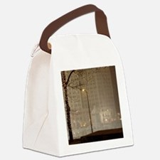 Christmas in Chicago Canvas Lunch Bag
