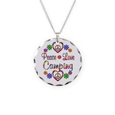 Peace Love Camping Necklace