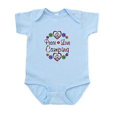 Peace Love Camping Infant Bodysuit