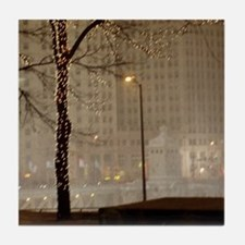 Christmas in Chicago Tile Coaster