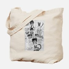 Back cover comedy Tote Bag
