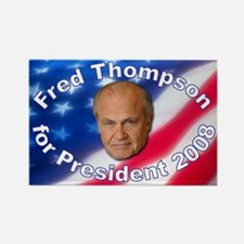 """""""Fred Thompson 2008"""" Rectangle Magnet"""