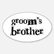 Groom's Brother Oval Decal