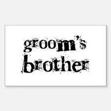 Groom's Brother Rectangle Decal