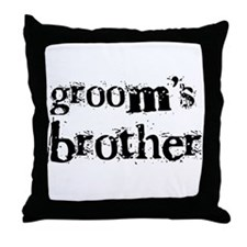 Groom's Brother Throw Pillow