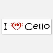 My Muse I Love Cello Bumper Bumper Bumper Sticker