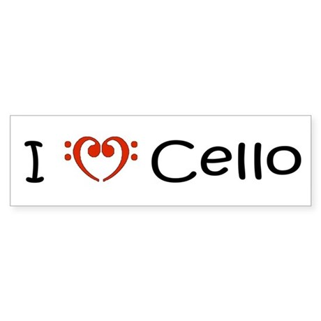 My Muse I Love Cello Bumper Sticker