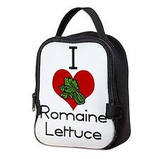 I love-heart romaine lettuce Neoprene Lunch Bag