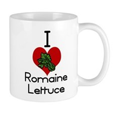 I love-heart romaine lettuce Mugs