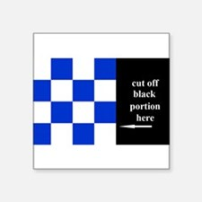 """Cool Navy code flags Square Sticker 3"""" x 3"""""""