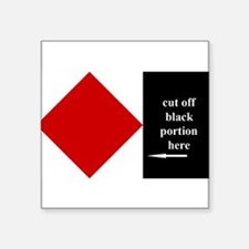 "Funny Sailing code flags Square Sticker 3"" x 3"""