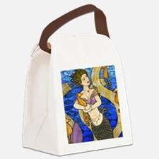 Seahorse Mermaid Canvas Lunch Bag