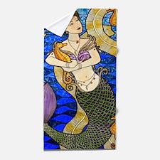 Seahorse Mermaid Beach Towel