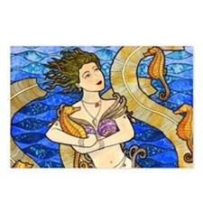 Seahorse Mermaid Postcards (Package of 8)