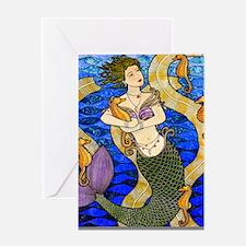 Seahorse Mermaid Greeting Cards