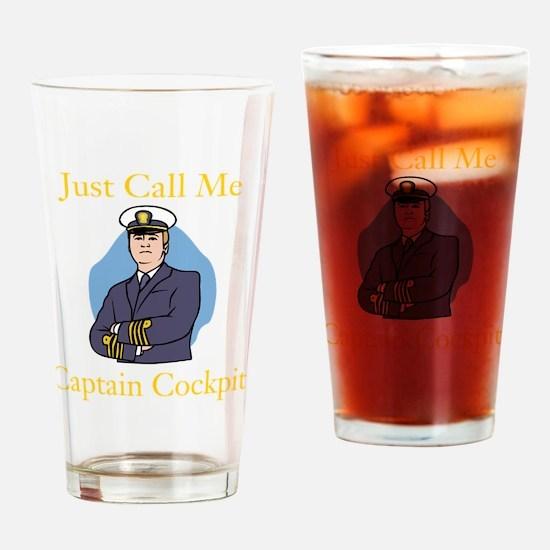 Captain Cockpit Drinking Glass