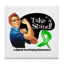 Spinal Cord Injury Stand Tile Coaster