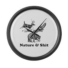Nature & Shit Large Wall Clock