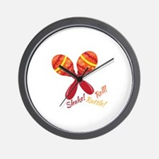 Shake Rattle Roll Wall Clock