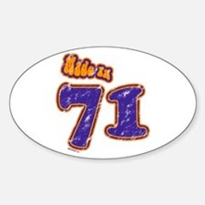 Made in 71 Oval Decal