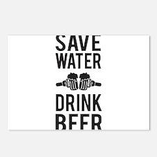 Save Water Drink Beer Postcards (Package of 8)