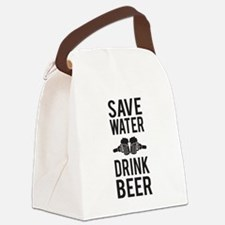 Save Water Drink Beer Canvas Lunch Bag