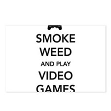 Smoke Weed And Play Video Games Postcards (Package