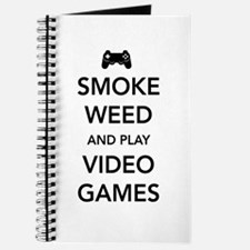 Smoke Weed And Play Video Games Journal