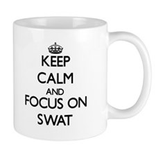 Keep Calm and focus on Swat Mugs
