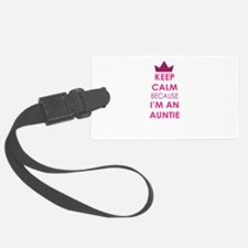 Keep Calm because Im an auntie Luggage Tag