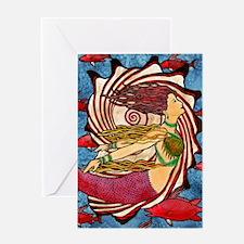 Seashell Mermaid Greeting Cards