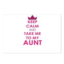 Keep Calm and Take me to My Aunt Postcards (Packag