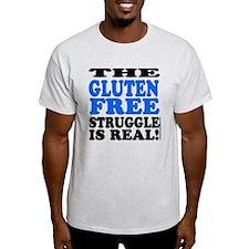 Gluten Free Struggle Blue/Black T-Shirt
