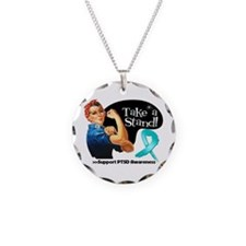 PTSD Stand Necklace Circle Charm