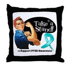 PTSD Stand Throw Pillow