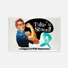PTSD Stand Rectangle Magnet