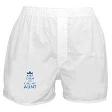 Keep Calm and Call My Aunt Boxer Shorts