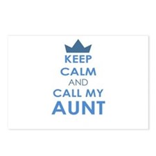Keep Calm and Call My Aunt Postcards (Package of 8