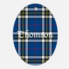 Tartan - Thomson dress Ornament (Oval)