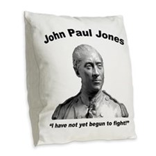 JPJones: Fight Burlap Throw Pillow