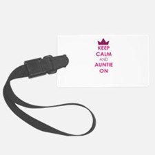Keep Calm and Auntie On Luggage Tag