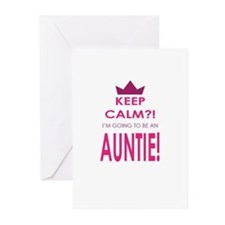 Keep Calm Im going to be an auntie Greeting Cards