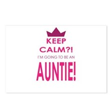 Keep Calm Im going to be an auntie Postcards (Pack