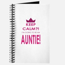 Keep Calm Im going to be an auntie Journal
