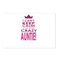 I cant keep calm calm crazy aunt Postcards (Packag