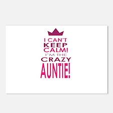 I cant keep calm calm crazy aunt Postcards (Packag