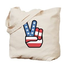 Patriotic Peace Sign Tote Bag