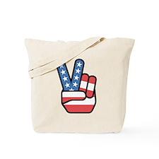 Patriotic Peace Sign Tote Bag